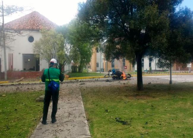 Explosión en el centro de Bogotá