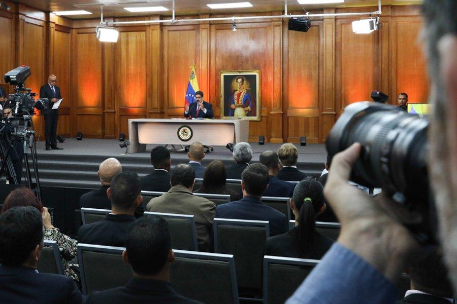 Maduro en rueda de prensa