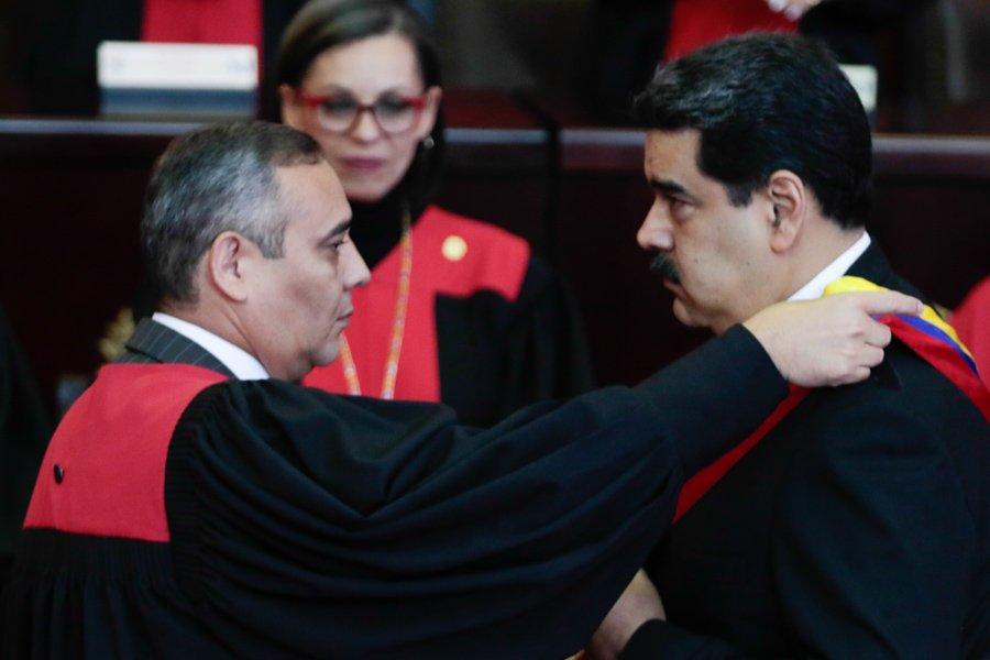 Maikel Moreno con Maduro