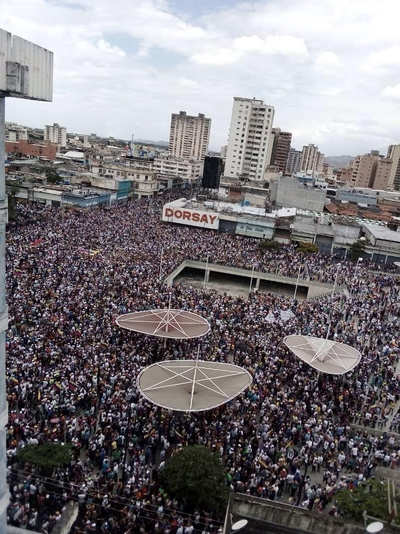 Concentración de la oposición en Aragua. Foto: Cortesía