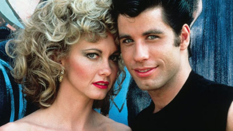 Olivia Newton-John y John Travolta en Grease - Vaselina