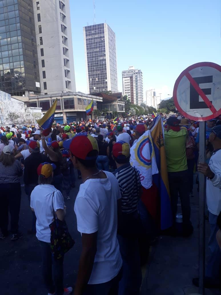 Marcha de la oposición en Caracas. Foto: Cortesía