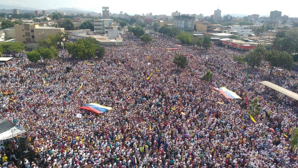 Concentración de la oposición en Barquisimeto. Foto: Cortesía