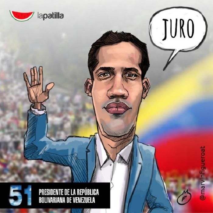caricatura Guaido