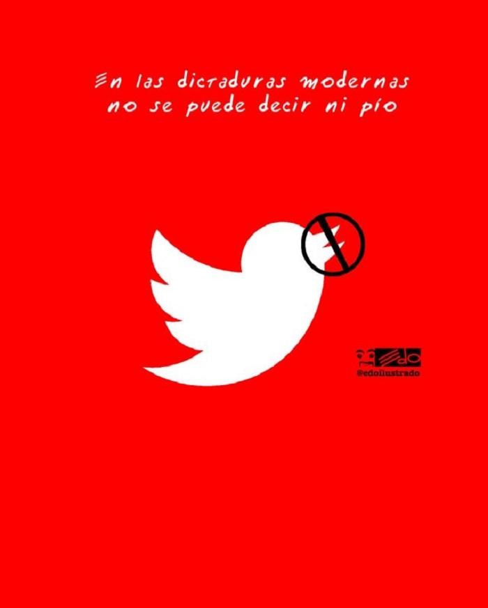 caricatura twitter censura
