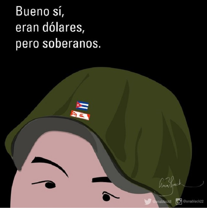 caricaturas Cuba militares