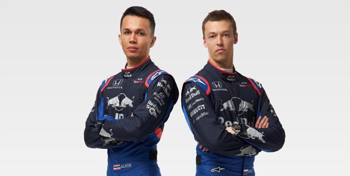 Alexander Albon, Daniil Kvyat, pilotos de toro rosso -f- @tororosso