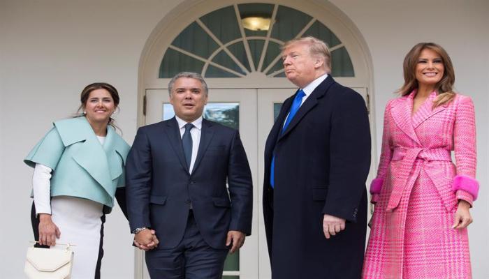 254b0576c8 Traje de primera dama colombiana en visita a la Casa Blanca divide opiniones