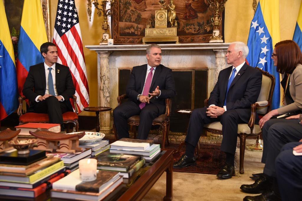 Guaidó con Pence y Duque 2