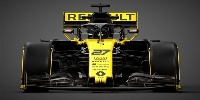 reanult presentacion del carro 2019, formula 1, pilotos -f-@renaultf1teram 2