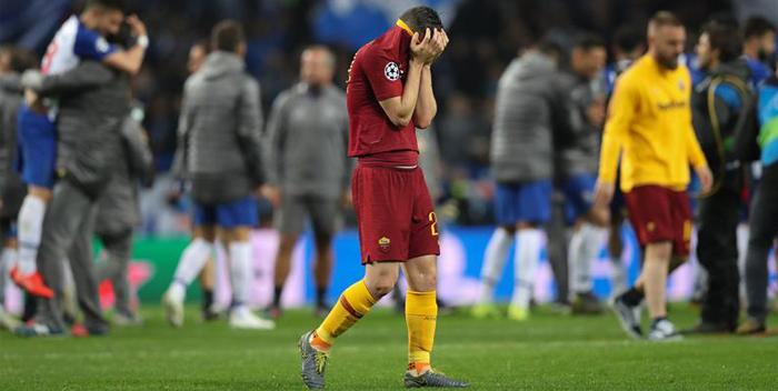 Alessandro Florenzi , derrotado,Roma