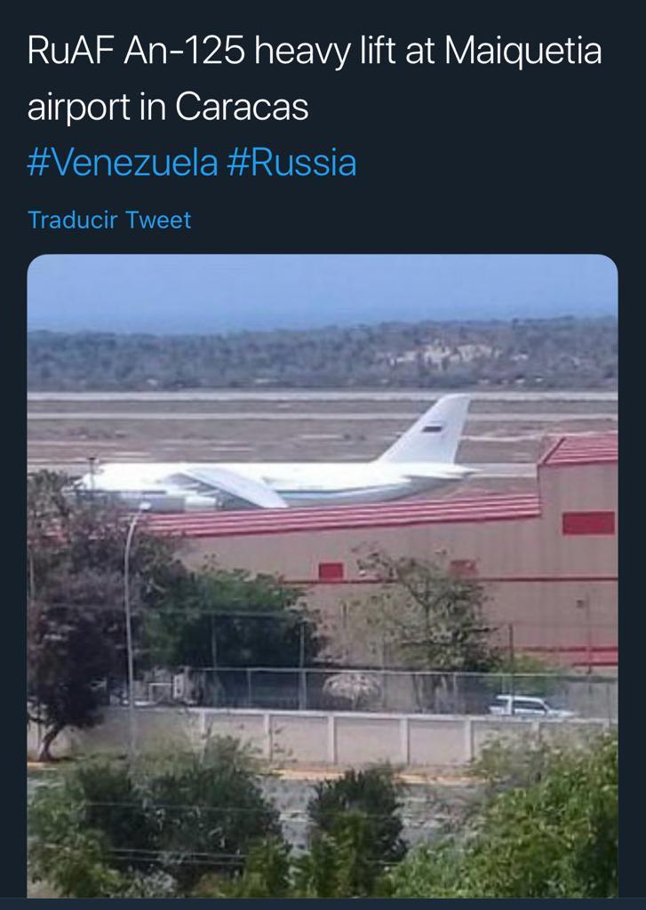 Avión ruso en Venezuela