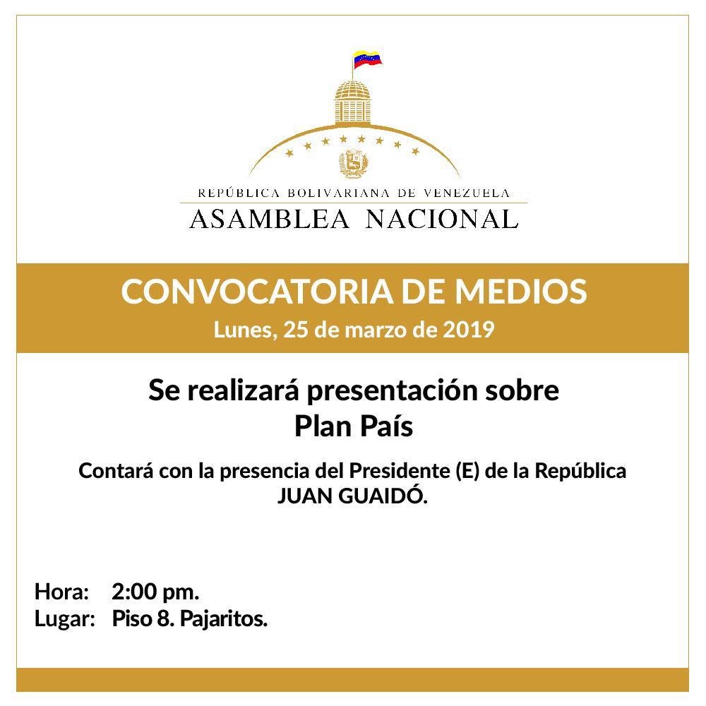 Guaidó presentará Plan País ante la Asamblea Nacional