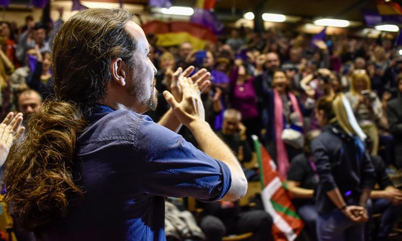 Pablo Iglesias de Podemos. Foto: EFE