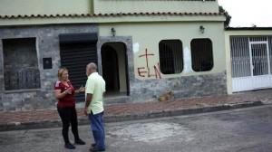 Casas pintadas con la marca del ELN en Rubio - Táchira_opt