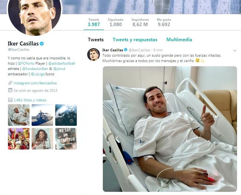 Iker Casillas hospitalizado