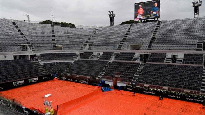 La intensa lluvia pone en duda el debut de Federer, Nadal y Djokovic en Roma - tenis