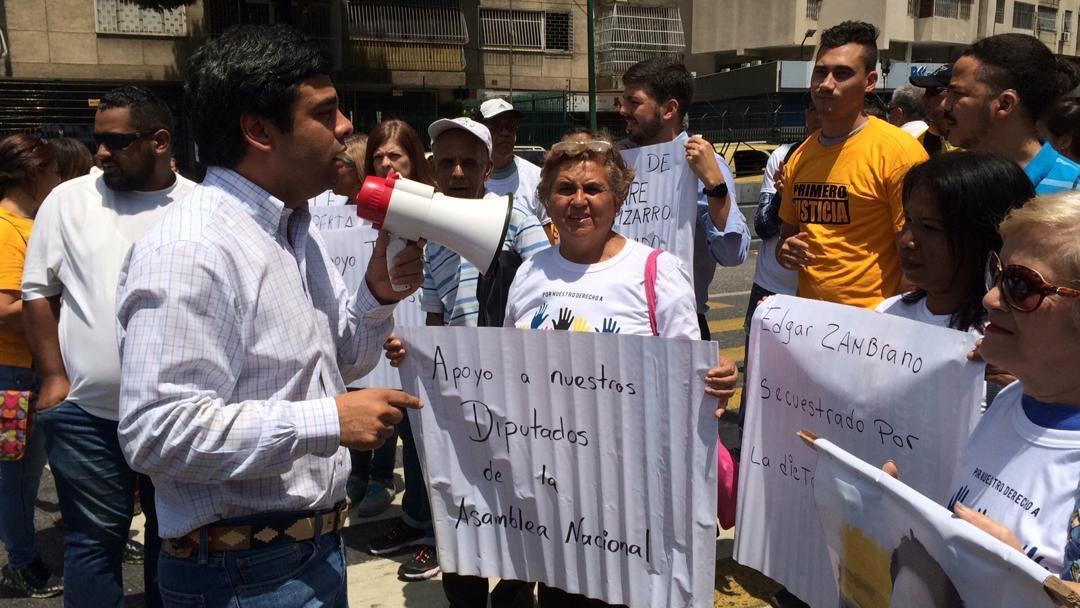 Protesta de Primero Justicia en El Marqués