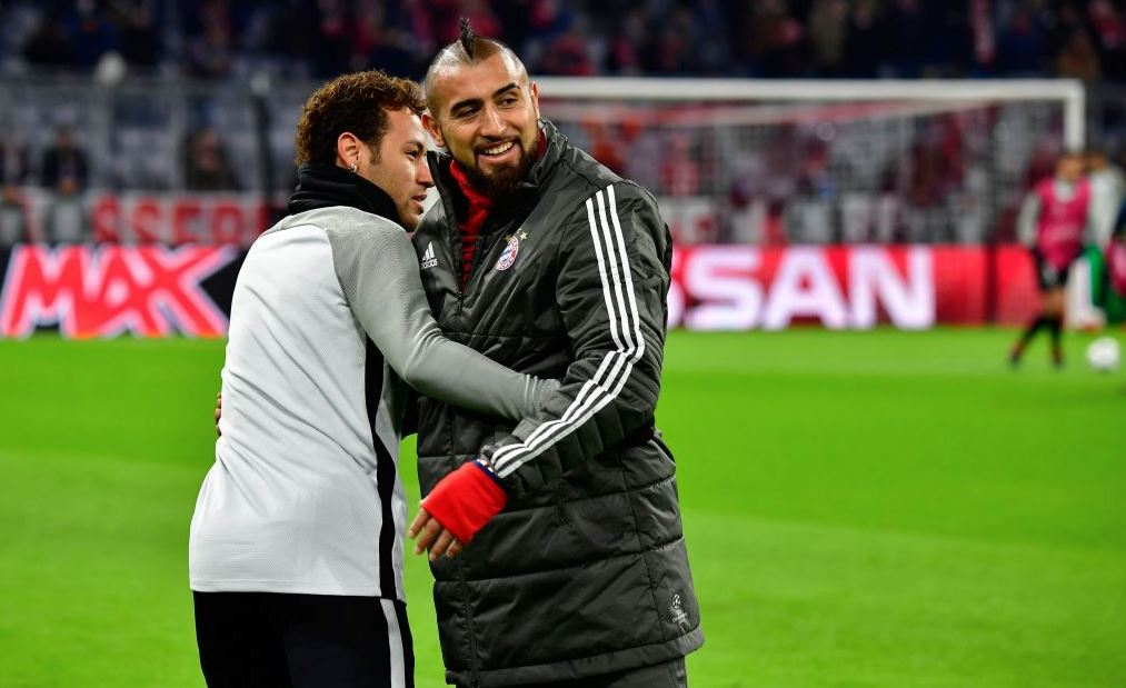 Arturo Vidal y Neymar