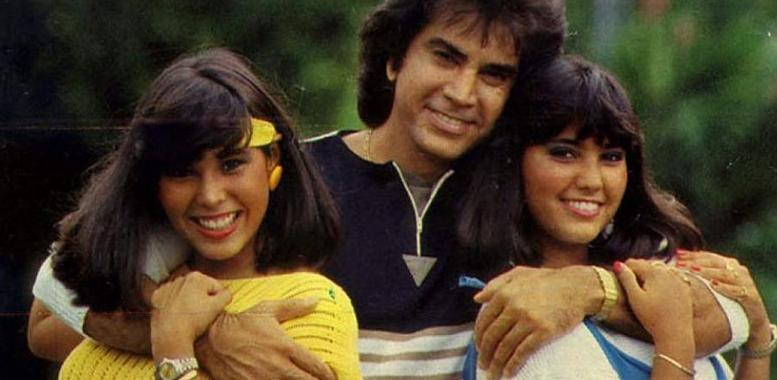 José Luis Rodríguez y sus hijas Liliana y Lilibeth