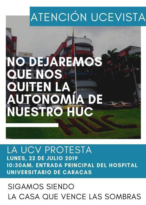 Convocan protesta en el Hospital Clínico Universitario - UCV