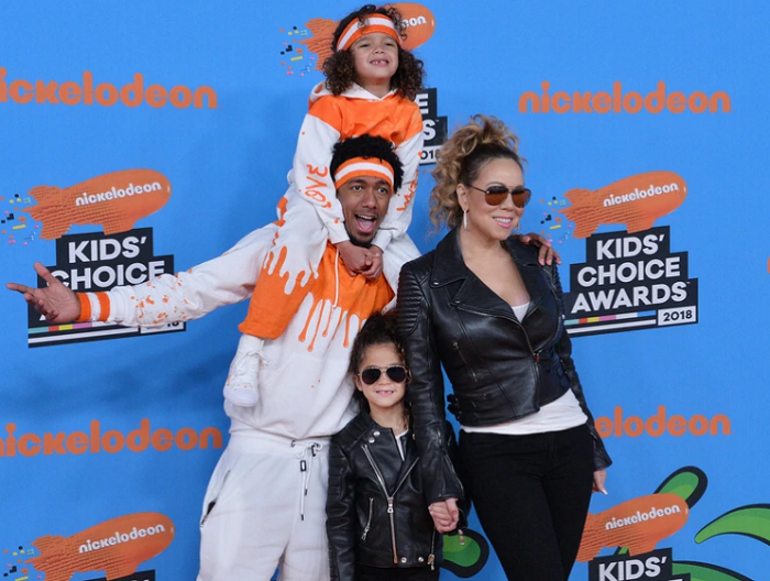 Mariah Carey con su ex Nick Cannon y sus hijos (The Grosby Group)