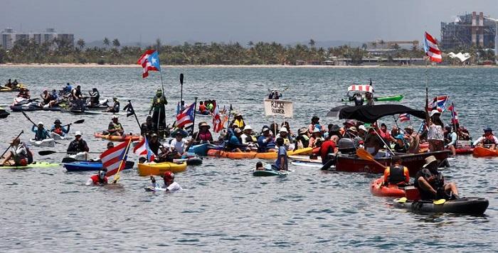 protesta acuatica, puerto rico (2)