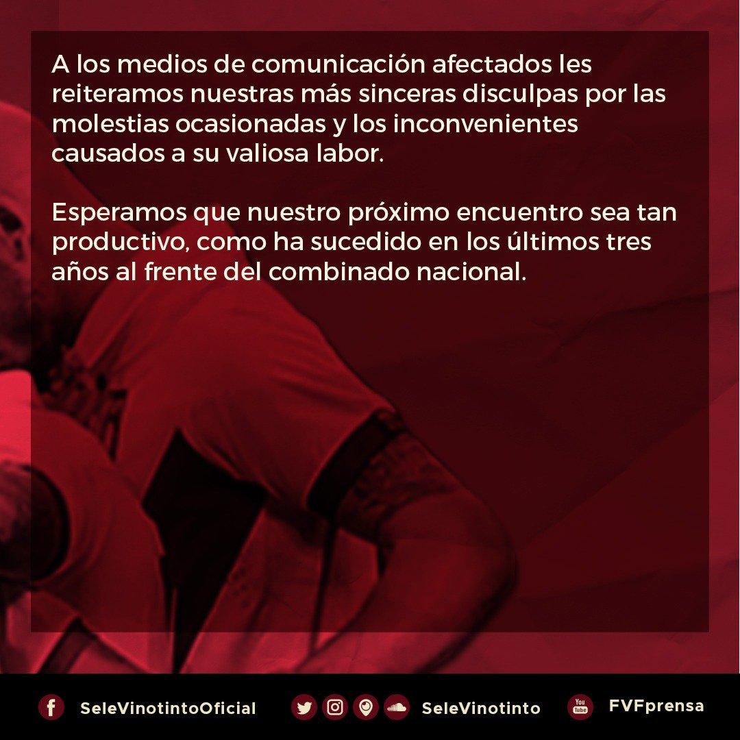 comunicado, fvf, vinotinto, partido contra colombia, rueda de prensa (1)