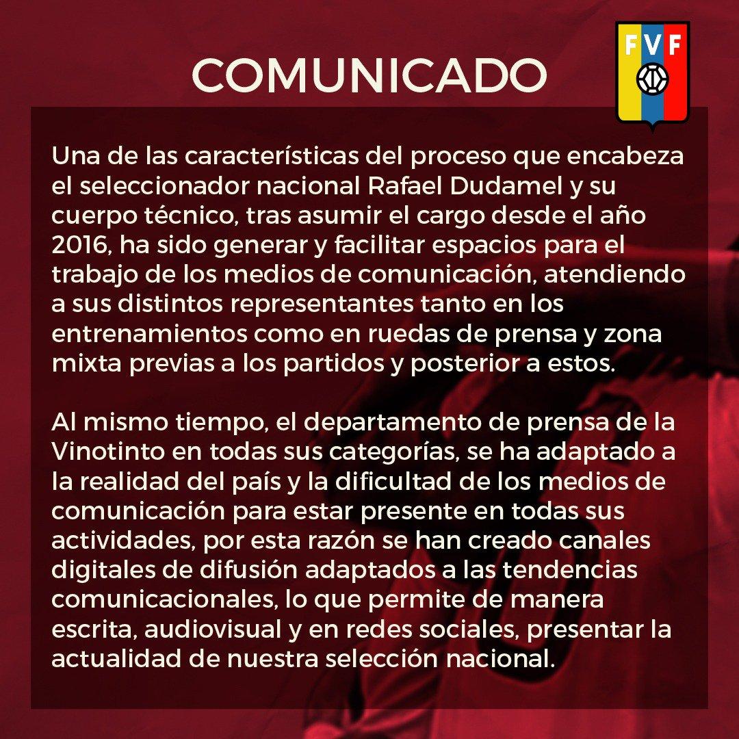 comunicado, fvf, vinotinto, partido contra colombia, rueda de prensa (2)