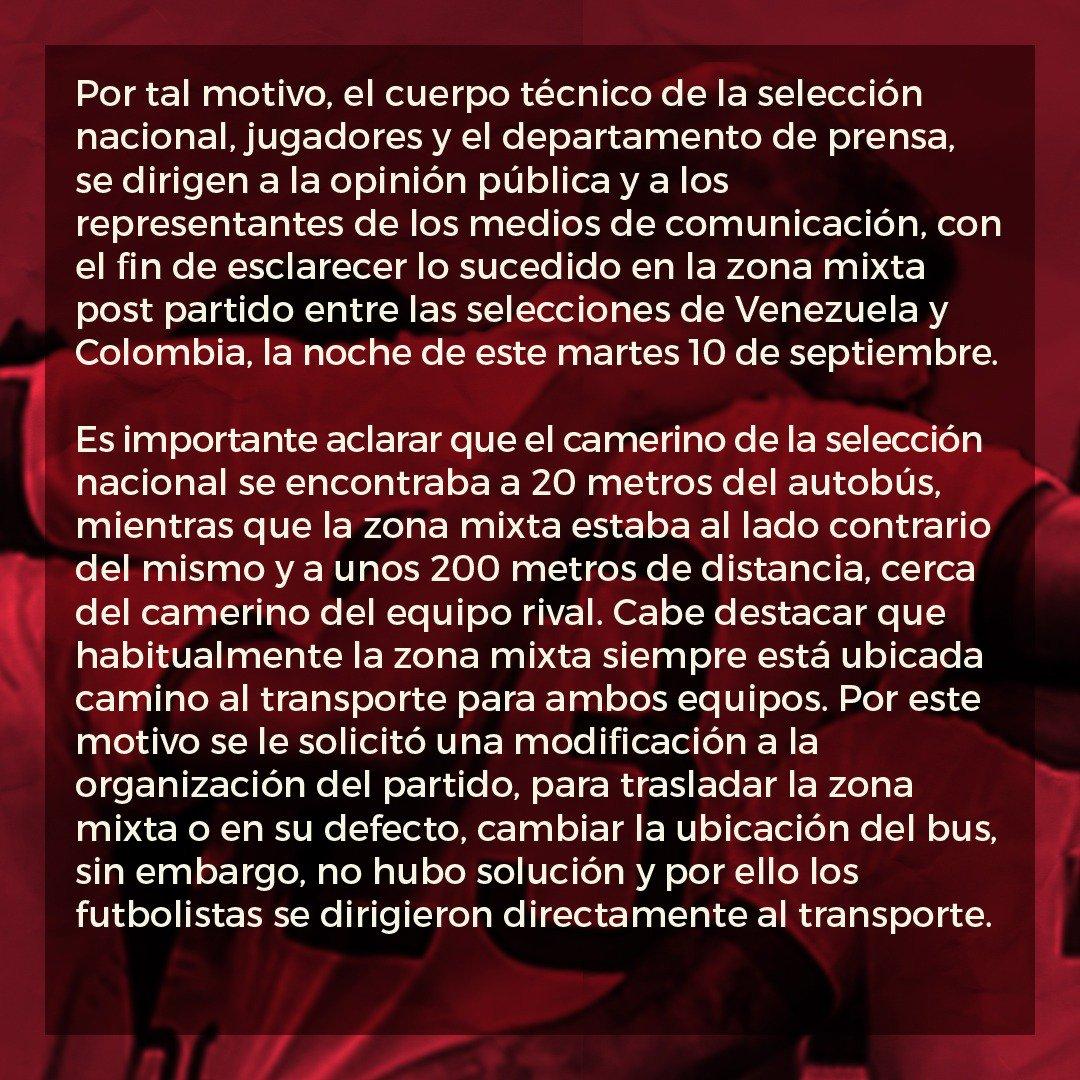 comunicado, fvf, vinotinto, partido contra colombia, rueda de prensa (3)