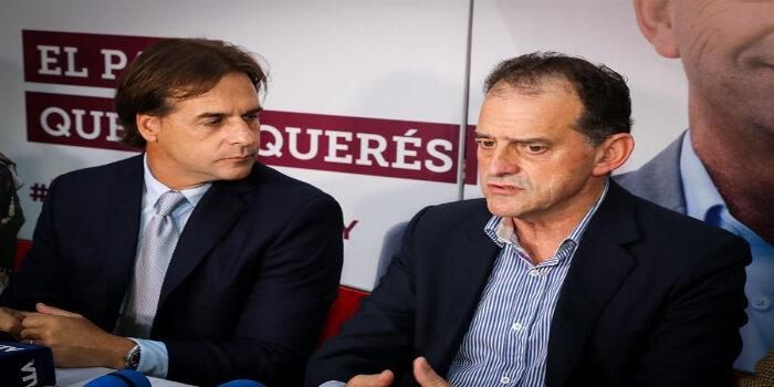 Luis Lacalle Pou, y Guido Manini Ríos