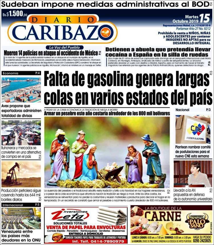 Portada El Caribazo 151019
