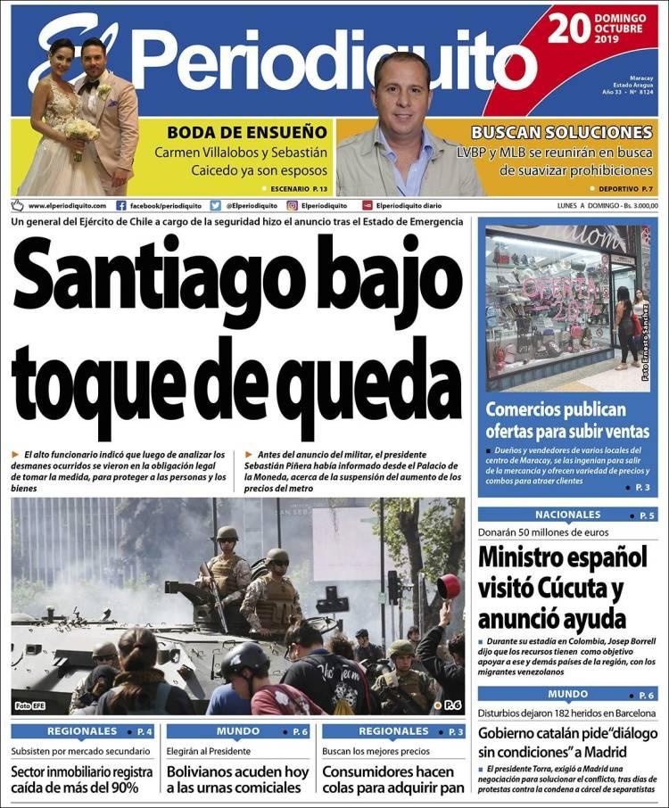 Portada El Periodiquito 20 de octubre 2019