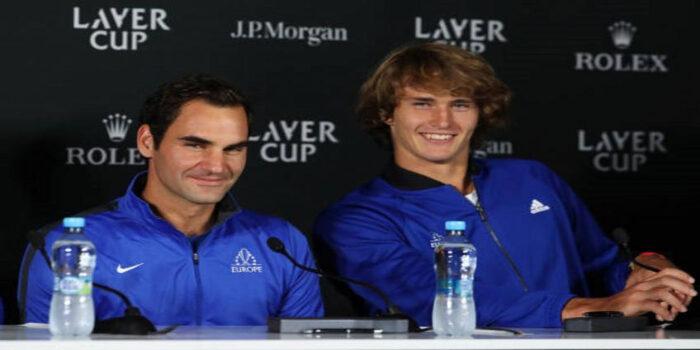 Roger Federer y Alexander Zverev