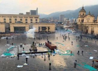 protestasPlaza Bolívar Bogotá