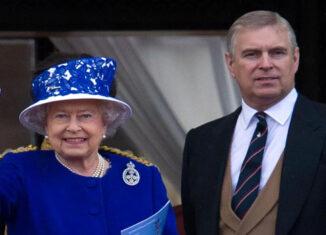 Reina Isabel y el príncipe Andrés