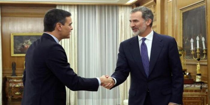 Pedro Sánchez y Rey de España