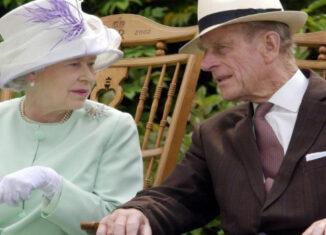 duque de Edimburgo y la reina